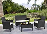 EBS Garden Furniture Set - Table Chair and Sofa For Conservatory Patio Garden