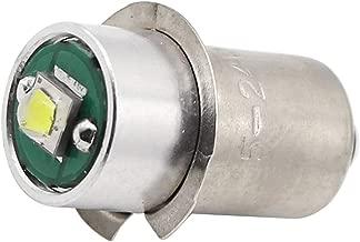 High Power LED Upgrade Bulb 3W 247LM DC5-24V 12V 18Volt PR2 P13.5S LED Flashlight Bulbs Replacement for DEWALT Flashlight Torch Tooling Lantern Work Light Maglite LED Conversion Kit