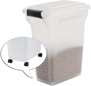 Iris Ohyama, Pet food storage container 20 L for 7,5 kg, flip-up lid, airtight, transparent, shovel & scoop, for dog & cat...