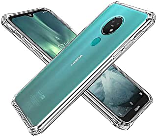 GKK CASE - for Nokia 7.2 /Nokia 6.2 Case - Anti-Yellow Soft Silicone TPU Clear Cover - Shock Absorption Slim Fit (Clear)