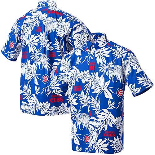 Reyn Spooner Herren Chicago Cubs MLB Classic Fit Hawaiian Shirt Button Down Hemd, Aloha 2019, Groß