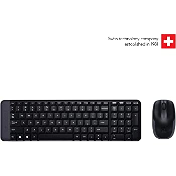 Logitech MK215 Wireless Keyboard and Mouse Combo for Windows, 2.4 GHz Wireless, Compact Design, 2-Year Battery Life(Keyboard),5 Month Battery Life(Mouse) PC/Laptop- Black