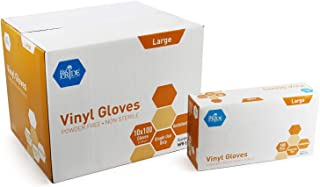 Medpride Vinyl Gloves| Large Case of 1000| 4.3 mil Thick, Powder-Free, Non-Sterile, Heavy Duty Disposable Gloves| Professional Grade for Healthcare, Medical, Food Handling, and More