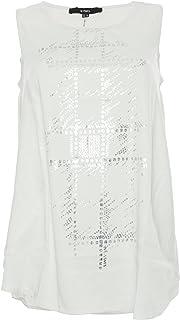 X Two T Shirt Tunika Jaci Damen Kurzarm