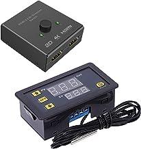 BOINN Switcher 2 Poorten Bi-Direction Handschakelaar met W3230 10A Digitale Temperatuurregelaar