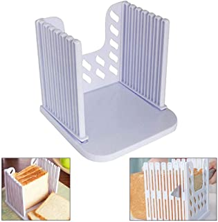Dolloress Bread Slicer Cutting Guide Bread Cutter Toast Slicer Loaf Sandwich Cutter Mold with 6 Slice for Home Kitchen