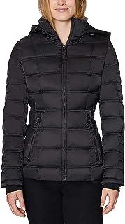 Nautica Women's Water-Resistant Puffer Jacket (Black, S)
