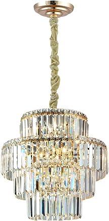 Pendente Bella Iluminação Hera French Gold E Transparente