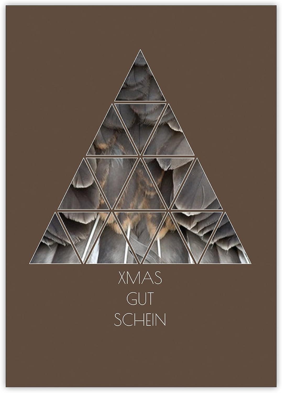 16 Geldgeschenk  Gutschein Karten zu Weihnachten mit modernem modernem modernem Weihnachtskarten Design  Xmas Gut Schein B017O6ISEC | Deutschland Shops  ebb1ec