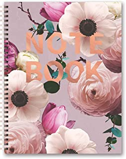 Studio Oh! Extra Large Hardcover Spiral Notebook Available in 6 Designs, Floral Expressions Blush Notebook Available in 6 Designs