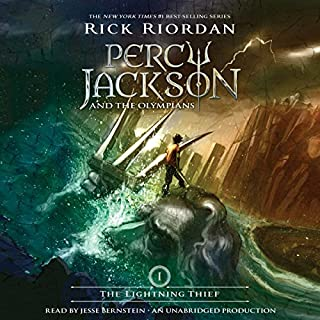 The Lightning Thief     Percy Jackson and the Olympians, Book 1              Written by:                                                                                                                                 Rick Riordan                               Narrated by:                                                                                                                                 Jesse Bernstein                      Length: 10 hrs and 2 mins     139 ratings     Overall 4.6