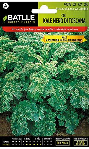 Semillas Hortícolas - Col Kale Nero di Toscana - Batlle