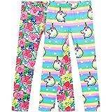 Sunny Fashion Chicas Pantalones 2 Paquetes Casual Polainas Unicornio Floral 3 años