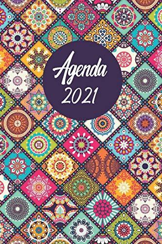 Agenda mandala 2021: Mandalas para colorear, agenda mensual...