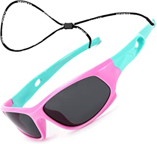 TR90 Unbreakable Flexible Polarized Sports Sunglasses for...