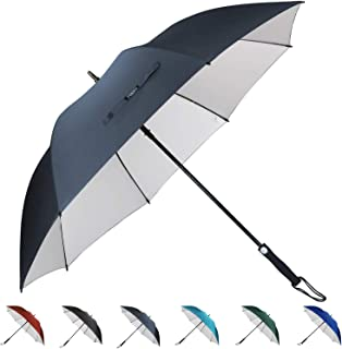 G4Free Windproof UV Protection Golf Umbrella Large 62 Inch Automatic Open Sun Rain Stick Umbrellas