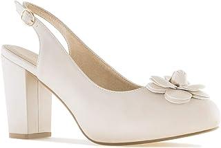 Andres Machado - Chaussures pour Femme/Adolescent en Soft - AM5299 - Escarpins de mariée arrière Ouvert - Peep Toe de fête...