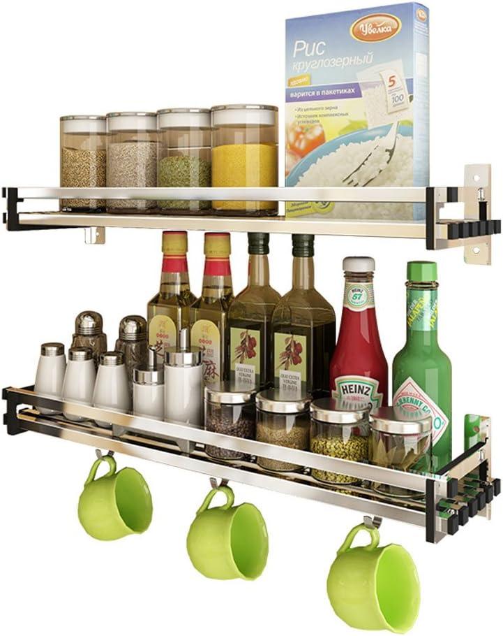 mensole Solide 40 cm Acciaio Inox 304 Accessori da Cucina shelf Mensola da Cucina SLL- 304 in Acciaio Inox da Appendere alla Parete
