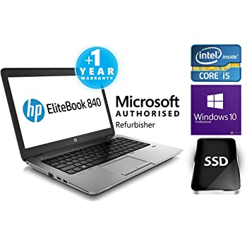 HP EliteBook 840 G1 14-inch Ultrabook (1.90GHz, Intel Core i5 4300U, 4GB Memory 180GB SSD Windows 7 Professional 64-bit (E3W30UT#ABA)