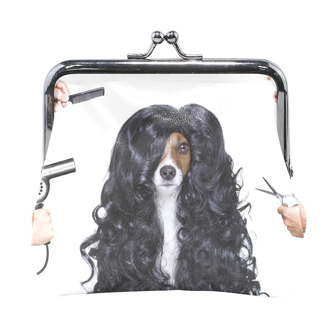 それから緩むパテがま口 財布 口金 小銭入れ ポーチ 犬 動物 面白い ANNSIN バッグ かわいい 高級レザー レディース プレゼント ほど良いサイズ