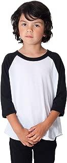 American Apparel Unisex Kids' 50/50 3/4 Sleeve Raglan