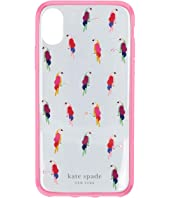 Kate Spade New York - Jeweled Flock Party Phone Case For iPhone XS