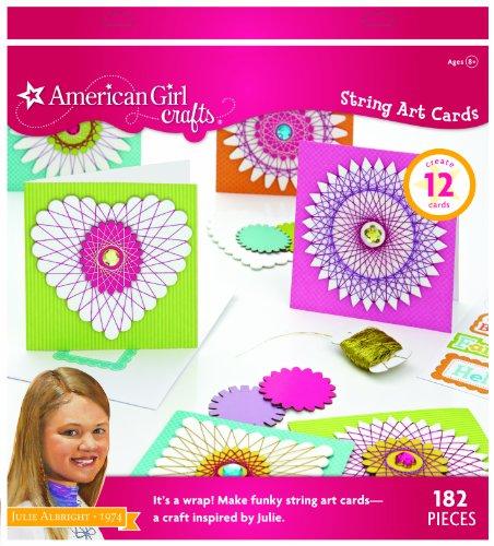 American Girl Crafts String Art Greeting Card Kit for Girls, 182pc.