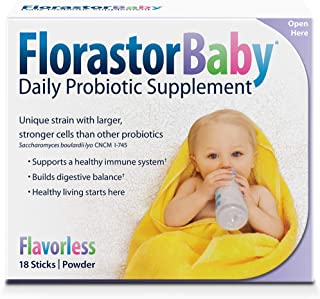Florastor Baby Daily Probiotic Supplement, a Unique probiotic Strain with Larger, Stronger Cells Than Other probiotics, 18Count