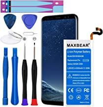 Galaxy S8 Battery, MAXBEAR [3000mAh] Lithium Polymern Internal Battery Replacement for Samsung Galaxy S8 SM-G950 EB-BG950ABE with Repair Tool Kit.[12 Month Warranty]