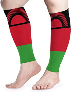 Manga de compresión de pantorrilla Banderas de Malawi Shin de pantorrilla Soporta calcetines de compresión de piernas - Hombres Mujeres