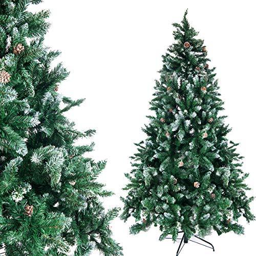 UMI Essentials - Albero di Natale artificiale con supporto, sistema pieghevole (210)
