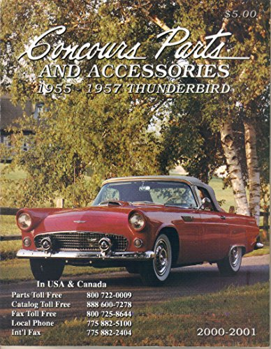Concours Parts and Accessories, 2000-2001 Catalog for 1955-1957 Thunderbird