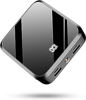 モバイルバッテリー 20000mAh 大容量PSE認証 LCD残量表示 鏡面仕上げデザイン 急速携帯充電器 2USB出力ポート&2入力ポート(MicroとType-C入力ポート)携帯充電器 Android/その他のスマホ/タブレット対応(ブラッ...