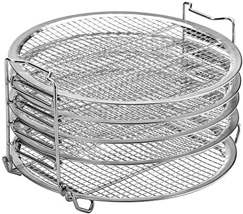 Review Dehydrator Rack Stainless Steel Stand Accessories Compatible with Ninja Foodi Pressure Cooker...