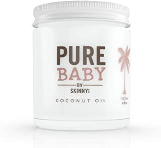 SKINNY & CO. Pure Baby Coconut Oil - 100% Organic Coconut Oil for Sensitive Skin Care, Cradle Cap Treatment, Baby Eczema, ...
