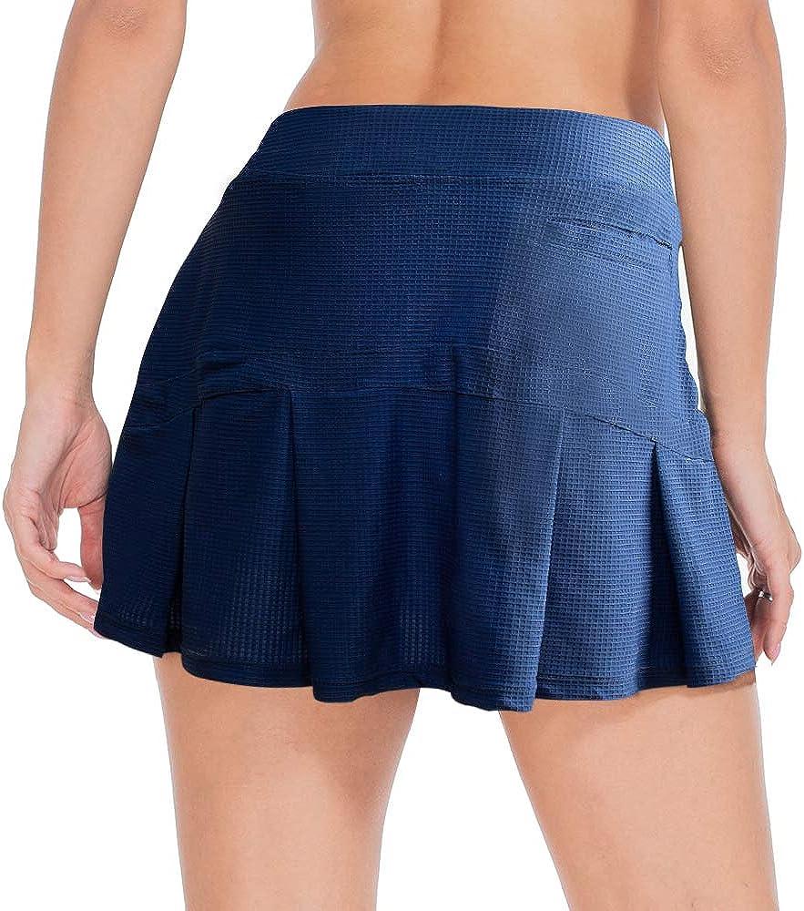 ZEALOTPOWER Tennis Skorts for Women safety with Soldering Pockets Skirts Ath Golf