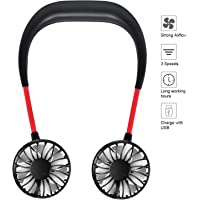 Control Future USB Rechargeable Hanging Hand Free Portable Neck Sports Fan