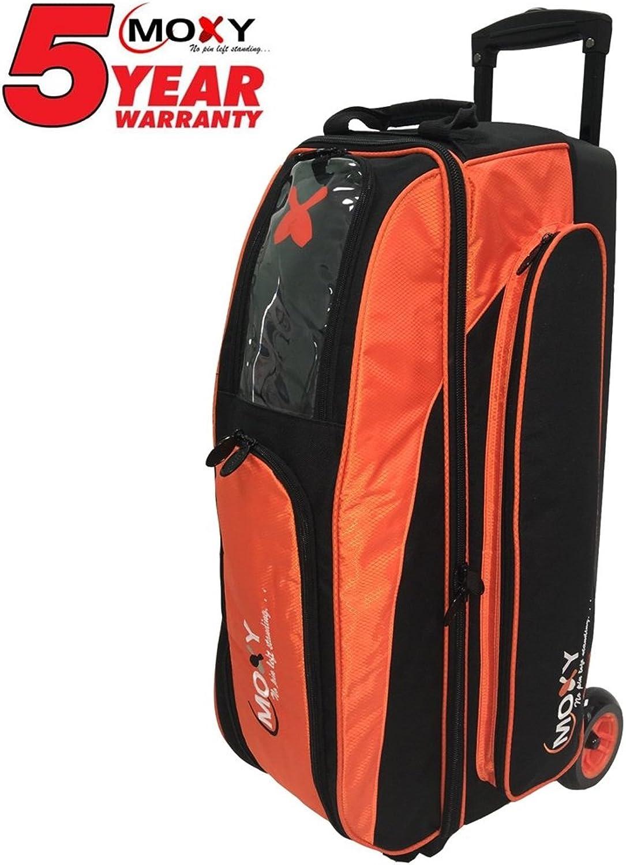Moxy Blade Triple Roller Bowling Bag- orange Black