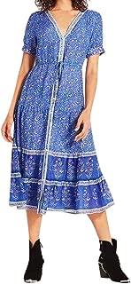Princess in The Forest Womens Boho Midi Dress Folk Custom Floral Print Long Summer Maxi Dresses Uefaof Cool Clothes