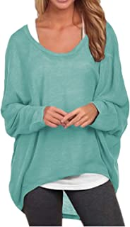 ZANZEA Women's Batwing Sleeve Off Shoulder Loose...
