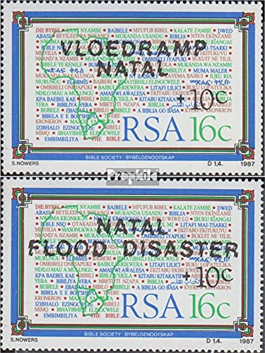 Prophila Collection Sud Africa 719-720 (Completa Edizione) 1987 Flutkatastrophe in Natal (Francobolli per i Collezionisti)