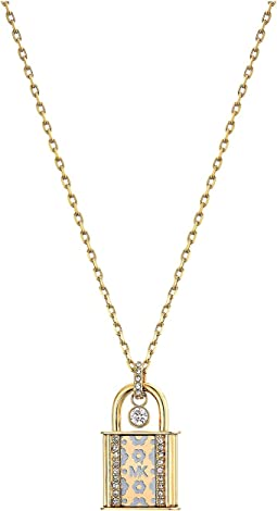 Michael Kors - Heritage In Full Bloom Pave Lock Pendant Necklace