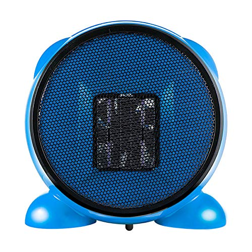 Mini Electric Heater Ultra-Lightweight Small Quick-Heat Heater Suitable for Office Family, Bedroom Electric Heater,Blue