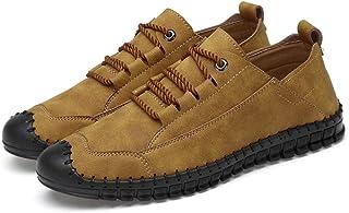 Yuper Hombres Vintage Mocasines de Cuero Verano Casual Zapatos para Caminar Botes Conducción