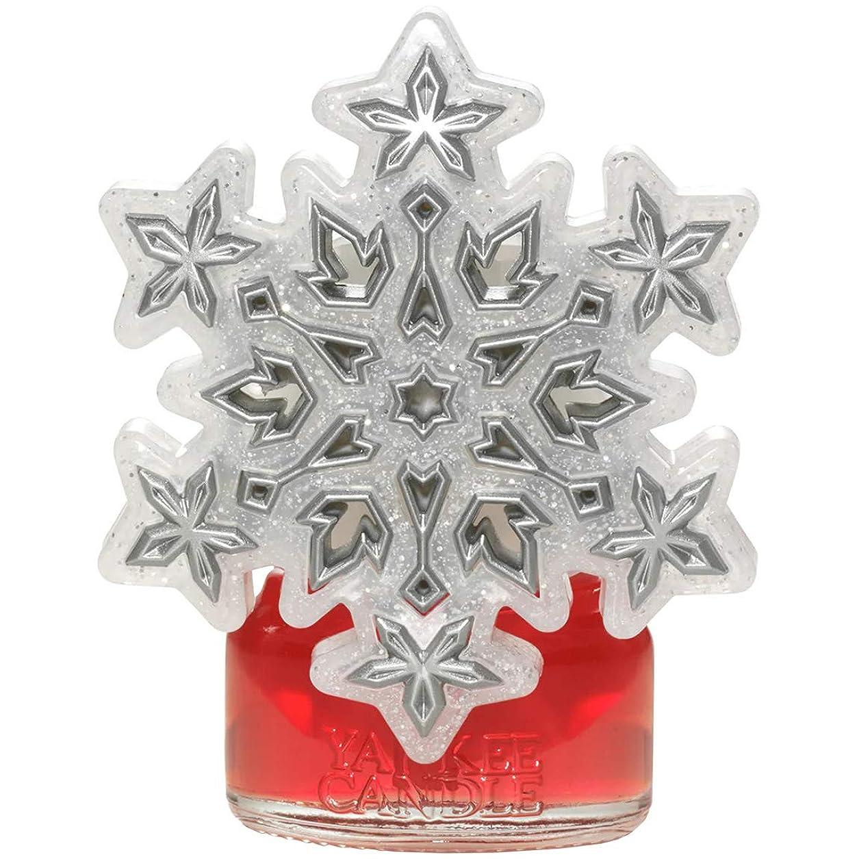 基礎過言コックYankee Candle Frosty シルバー 雪の結晶 ナイトライト ScentPlug Base