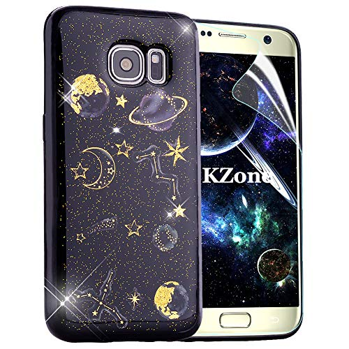 OKZone Coque Samsung Galaxy S7, Mince Étui en Silicone Souple Brillante Bling Bling Glitter de Luxe,Flexible Plein-Corps TPU Bumper Housse Etui de Protection pour Samsung Galaxy S7