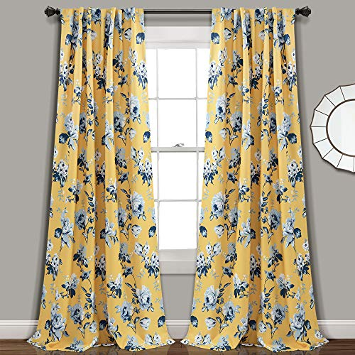 """Lush Decor, Yellow and Blue Tania Curtains 
