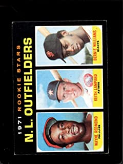 1971 TOPPS #728 WAYNE REDMOND/KEITH LAMPARD/BERNIE WILLIAMS NL ROOKIE OUTFIELDERS EX RC ROOKIE
