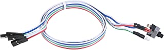 uxcell 2 PIN Power Cable with 2 LED Red and Clear, a Switch for ATX Computer 50cm 2pcs