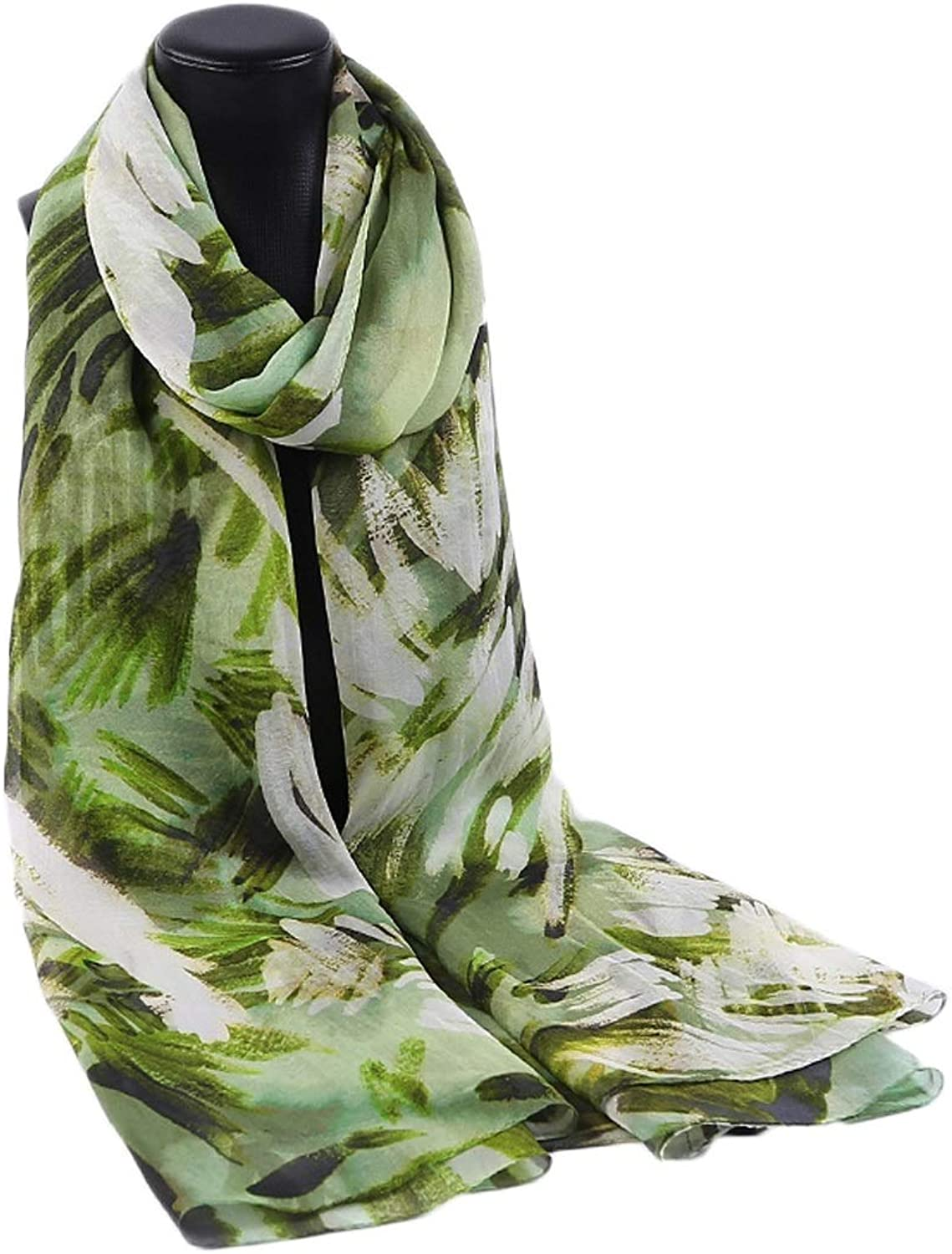 Womens Ladies Sunscreen Thin Silk Scarf Seaside Tourism Beach Towel Scarf (color   Green, Size   195x106CM)